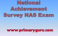 NAS Exam Question Paper Std-3, 5 & 8